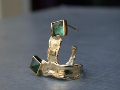 18 karaat oorbellen met groene toermalijn unicum exclusief ontwerp atelier12hoven arnhem afbeeldingen