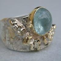 Zilver met Gouden ring , toermalijn Arnhem afbeeldingen ringen