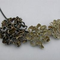 Zilver met goud gepatineerd rozen  unieke ontwerpen hand gemaakt