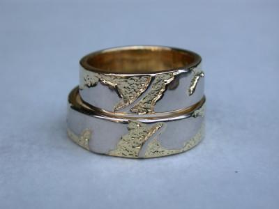 bicolor geel witgoud trouwringen afbeelding arnhem ambachtelijk gemaakt.