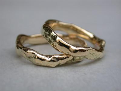 geelgouden geel gouden vriedschaps ringen