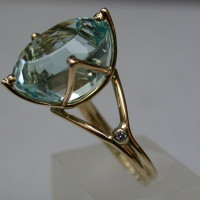 geelgouden ring met topaas en diamant arnhem