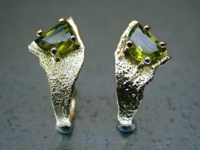 gouden oorbellen met peridot afbeeldingen edelsmid goudsmid arnhem afbeeldingen