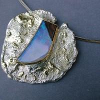 hanger zilver met goud opaal afbeeldingen afbeelding Arnhem