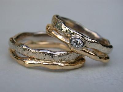 huwelijks ringen Ring vermaakt trouwring toe gevoegd met diamant