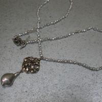 keshi parels collier ketting witgouden hanger met diamanten organisch ontwerp afbeeldingen arnhem edelsmid