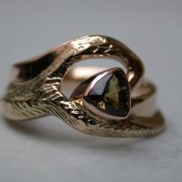 roodgoud ring saffier arnhem sepia