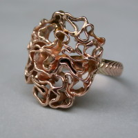 roodgouden ring  atelier12hoven arnhem handgesmeed