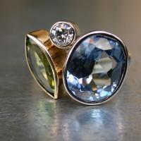 symbolisch sieraad gedenk sieraad goud diamant aquamarijn olivijn peridot groene stenen