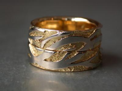 trouwringen wit en geel gouden ringen