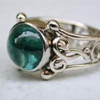witgouden ring met toermalijn edelstenen edelsteen Arnhem